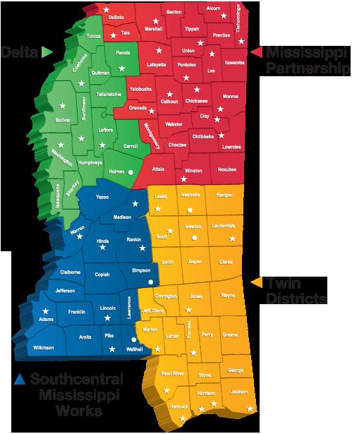 MDES - Local Workforce Development Areas